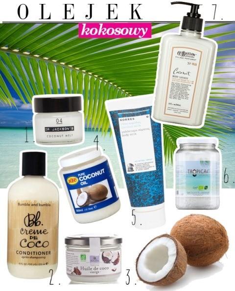 olejki kokosowe