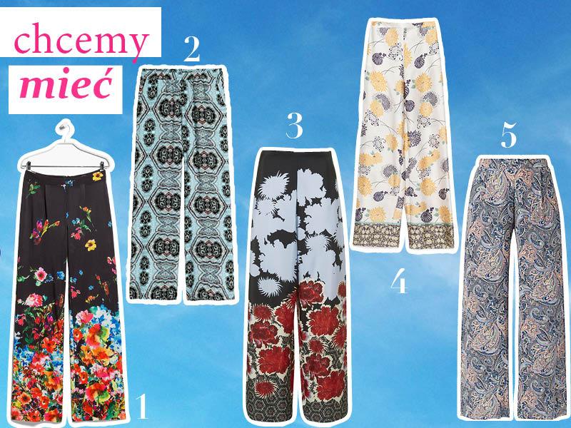 Trend – szerokie spodnie we wzory i kwiaty