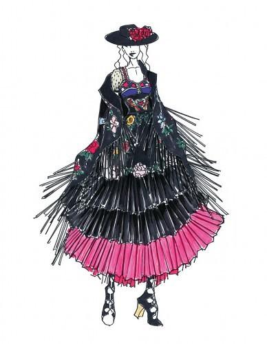 tour madonny, projekty kostiumów 2015 3