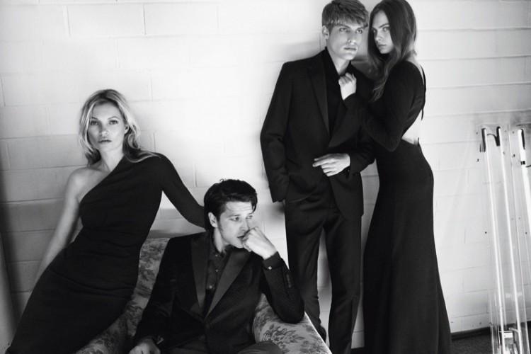 Kate Moss & Cara Delevingne w wieczorowej kampanii Mango
