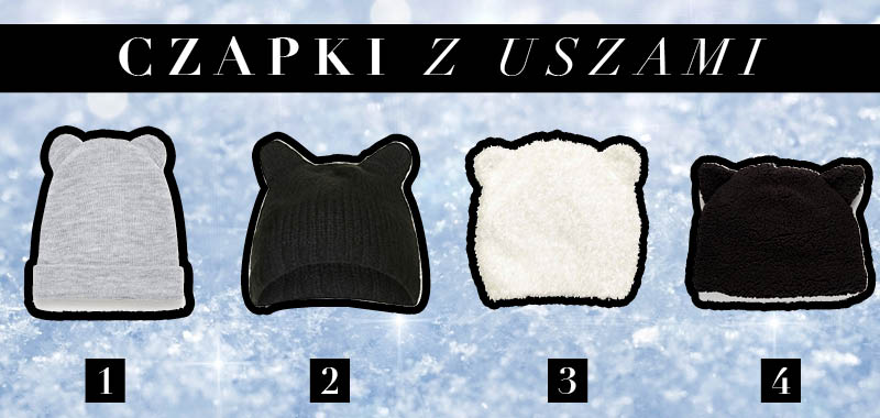 Modne czapki na zimę z uszami