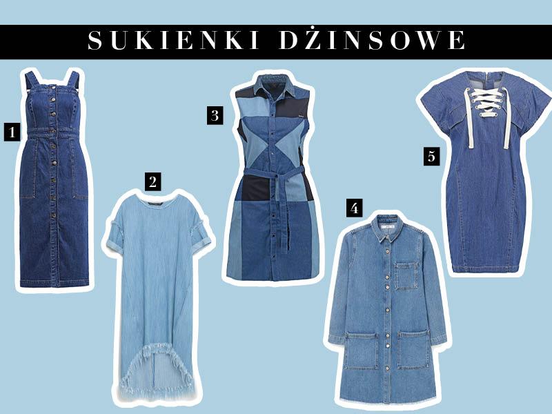 Sukienki dżinsowe – trend wiosna/lato 2016