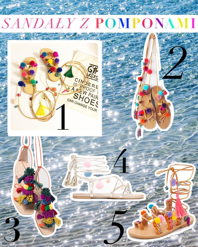 Sandały z pomponami – trend lato 2016