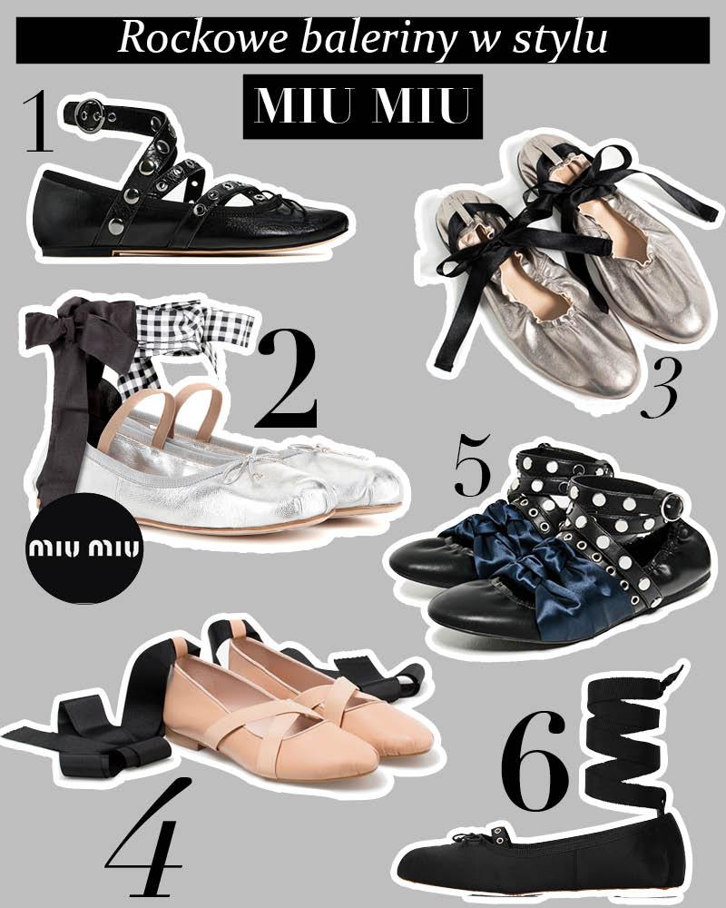 Rockowe baleriny jak Miu Miu – trend