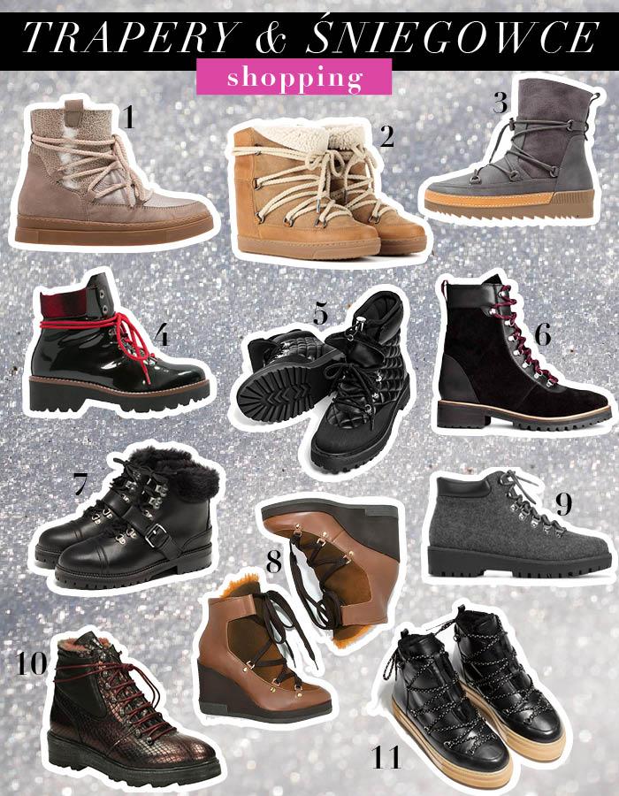 Buty zimowe – trapery i śniegowce
