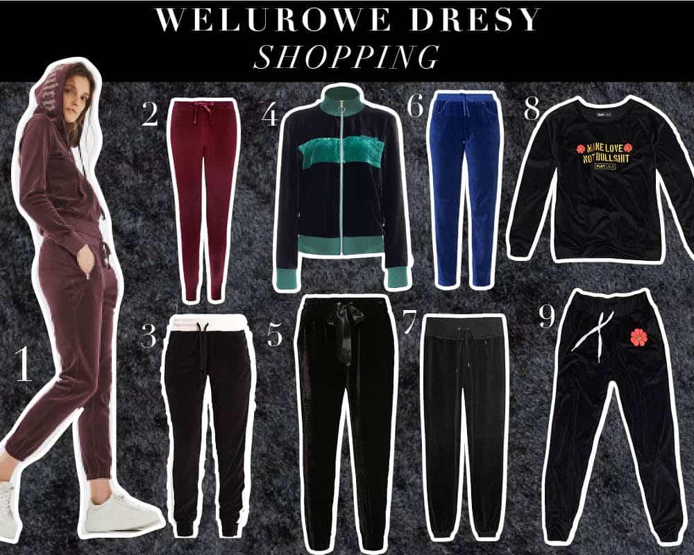 Welurowe dresy – trend z wybiegu 2017