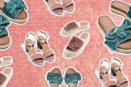 klapki sandalki aksamitne trend moda 2017 lato
