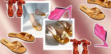 satynowe klapki i sandalki trend moda 2017 lato