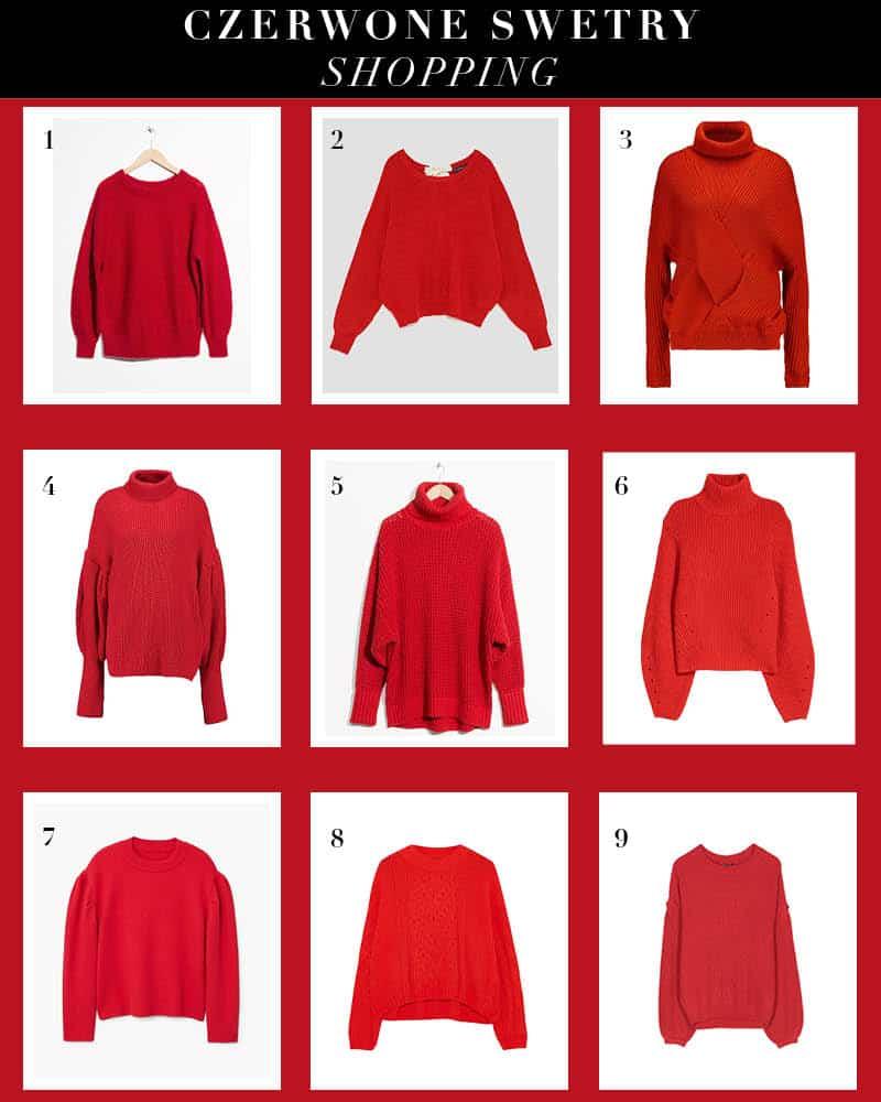 Czerwone swetry – trend na jesień