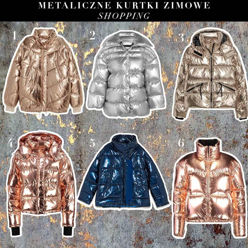 Metaliczne kurtki puchowe –  trend jesień zima 2017