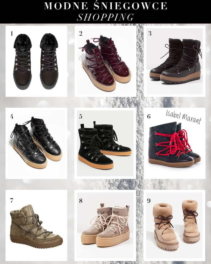 sniegowce, trapery, modne buty na zime