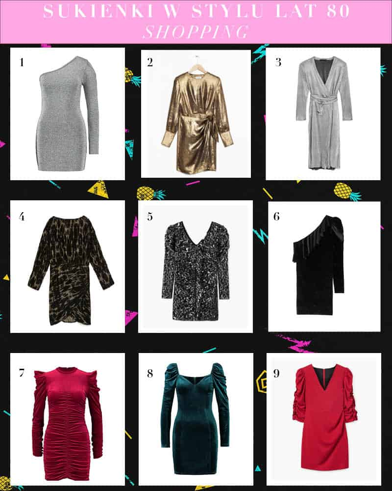 Sukienki w stylu lat 80 tych – trend z wybiegu