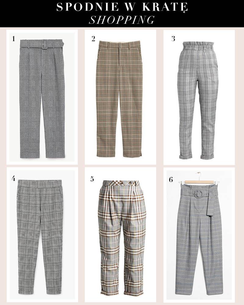 spodnie w krate shopping
