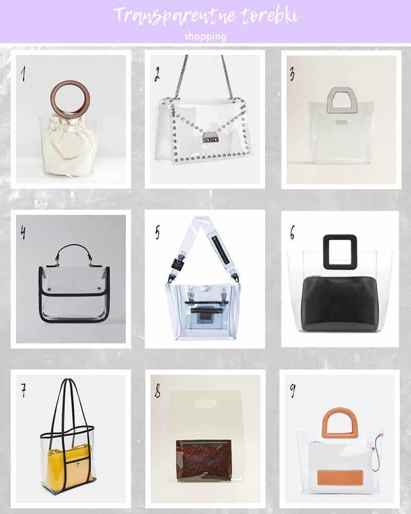 przezroczyste torebki shopping online