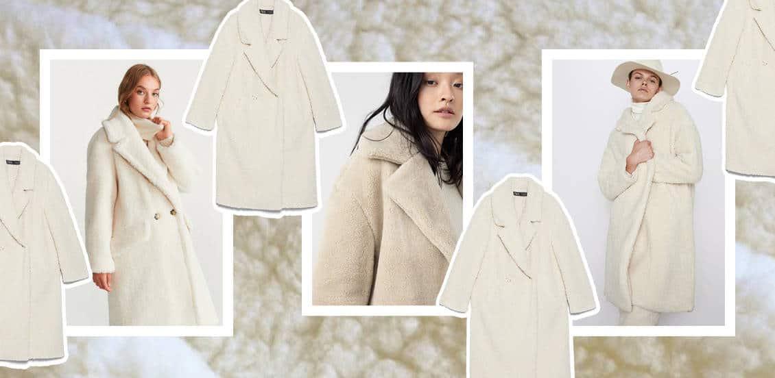 kurtki i płaszcze ze sztucznego baranka